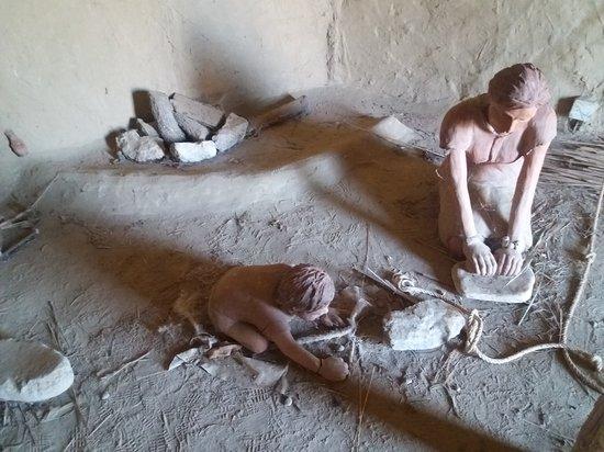 Dispilio, Grèce : Γιατί λοιπόν οι άνθρωποι της λίθινης εποχής κατασκεύαζαν καλύβες πάνω από τα νερά της λίμνης και μέσα σε αυτήν;  1. για να προστατευτούν από τα άγρια ζώα της περιοχής,  2. για να έχουν καθαρό και πόσιμο νερό 3. για να βρίσκουν τροφή 4. για να έχουν δίπλα τους τα υλικά, για να χτίσουν τα σπίτια τους (λάσπη, καλάμια, ξύλα, νερό).