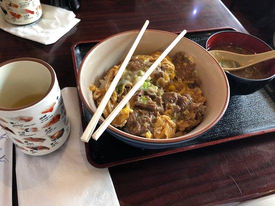 Dojima-Ann: My meal, with tea.
