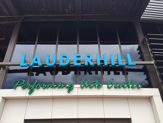 Lauderhill Performing Arts Center: LPAC Entrance of the building sign