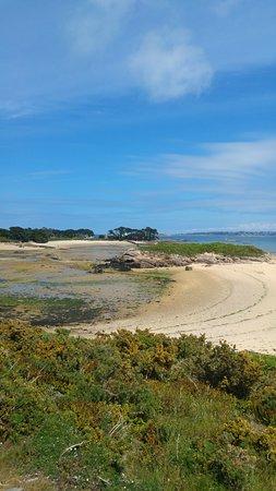 Attendons la marée basse pour rejoindre l'île Callot !!