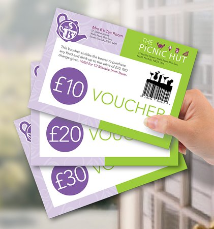 ...why not give a gift voucher to someone you love who's coming to Wells-Next-The-Sea as a surprise for when they visit?  🙂