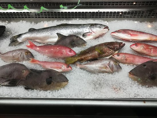 Check out the fresh fish.
