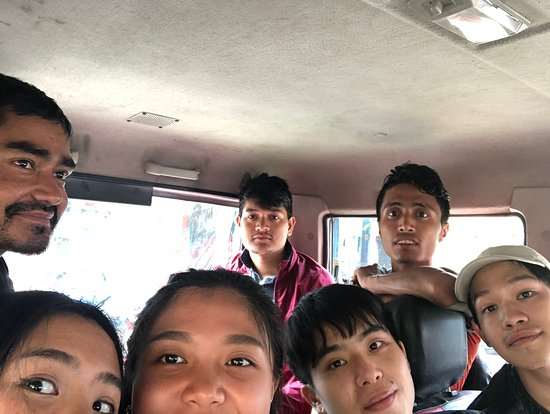 Incredible Treks: Krishna, porters (Razjan and Tika) and us on the jeep back to Nayapul