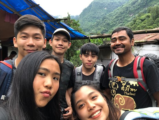 Incredible Treks: A group selfie once we arrived at Kyumi Village on day nine. Happy us happy Krishna