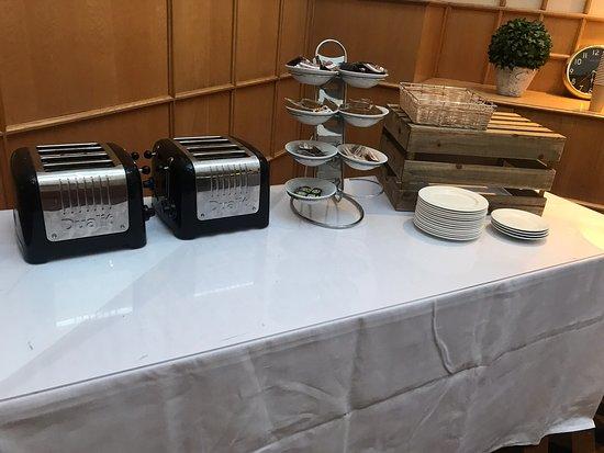 Breakfast area set up