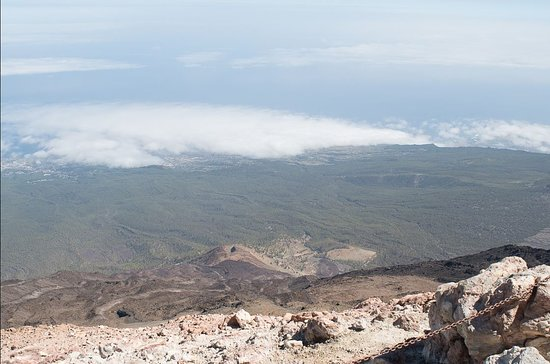 Vistas desde la cima del volcán