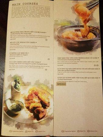 Le Fe Dining Place: Beautiful menu