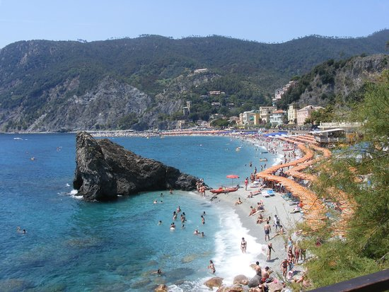 Italia: Cinqueterre Monterosso strand részlet