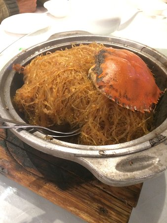 Burwood, Australia: Crab casserole with glass noodles