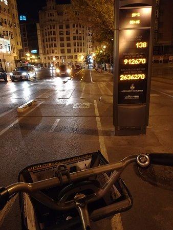 Heavy bike traffic even in the midnight