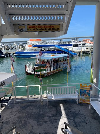 Water Taxi Miami: Departing with a nearly full boat