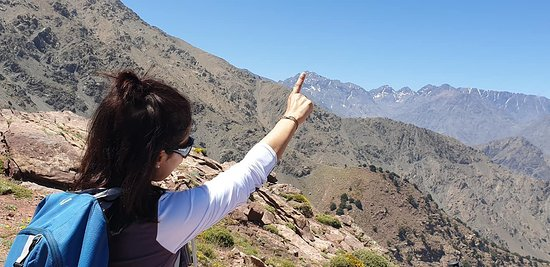 Pointing Toubkal ! 4167m above the sea !