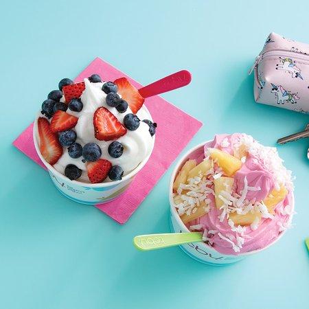10 Flavors of soft serve frozen yogurt daily!