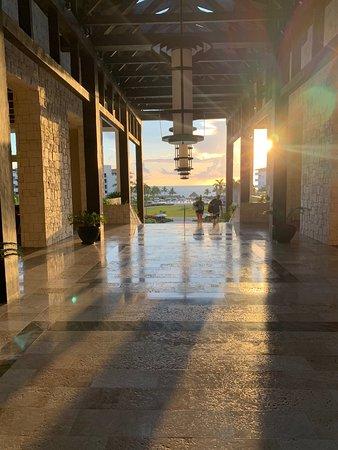 Sunrise from the main lobby