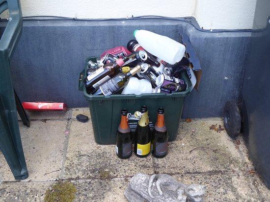 Torquay, UK: Clarence Grey House rear garden waste.