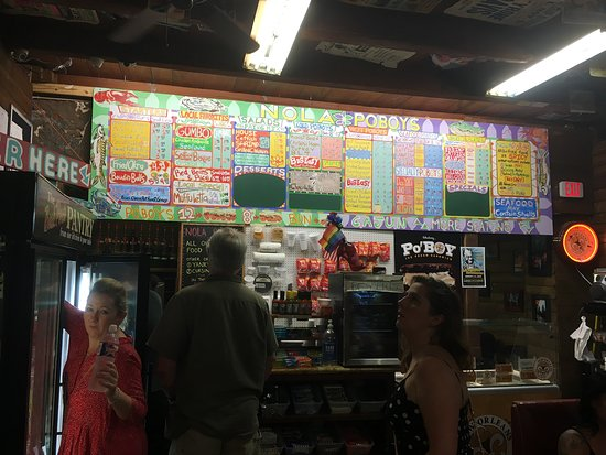 Order counter at Nola Poboys