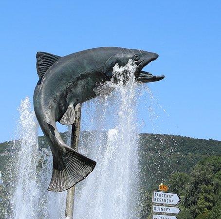 Fontaine de la truite à Ornans