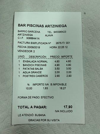 imagen Bar Restaurante Las Piscinas en Artziniega