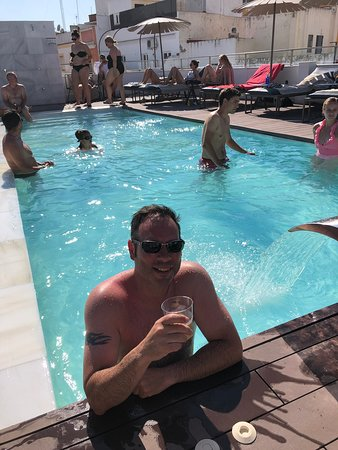 Poolside at the one shot