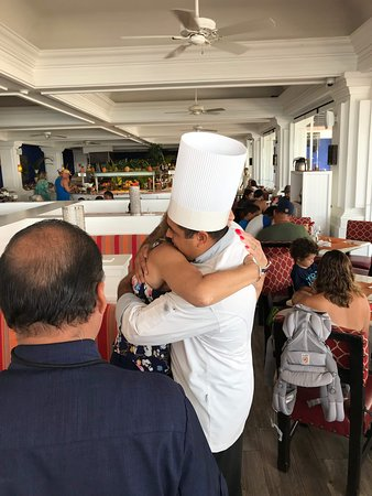 Resorts head chef Jose, this man takes incredible care of my wife.