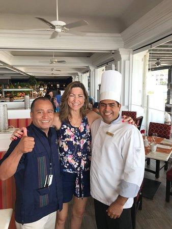 Heriberto and Chef Jose with my wife