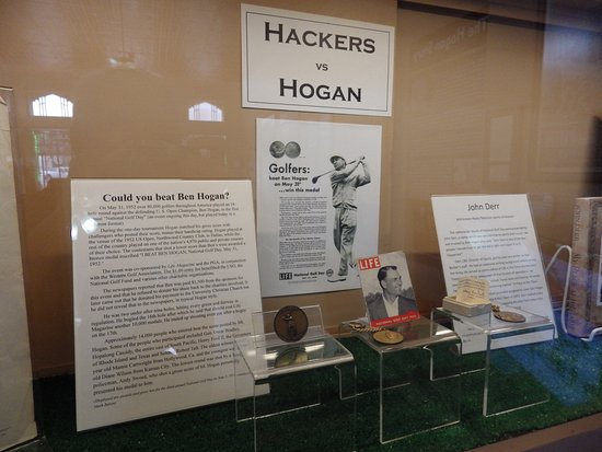 Interior display at the Ben Hogan Museum of Dublin, Texas.
