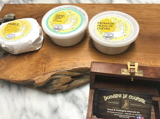 Choice cheese spreads.