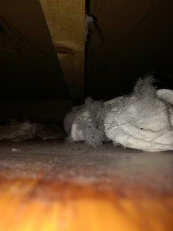 suciedad bajo la cama