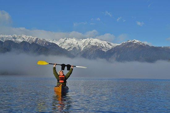 Misty Morning on Lake Mapourika