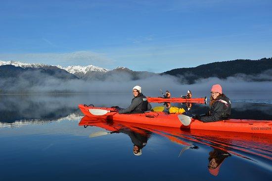 Enjoy the mirror waters of Lake Mapourika