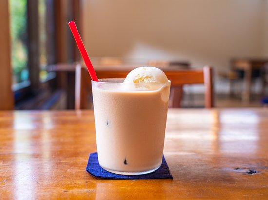 Iced masala chai float