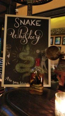 Snake whiskey at bar at Anantara