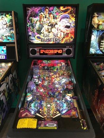 Ghostbusters Pinball at Red Rocket Retro Arcade