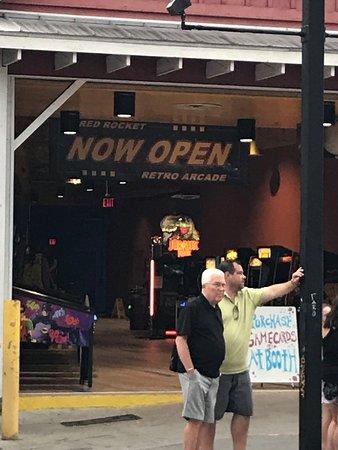 Red Rocket Retro Arcade entrance
