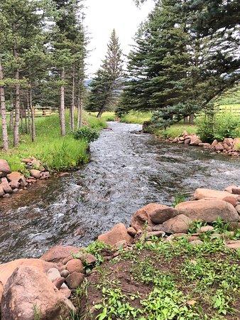 The Cucharas River runs directly through the ranch.