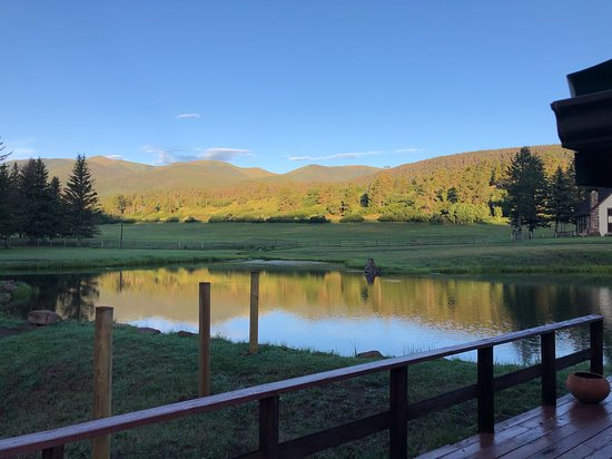 Cuchara, CO: View from the front deck of the Guest House Cabin.