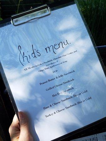 Rebecca's Bistro: Kids menu!