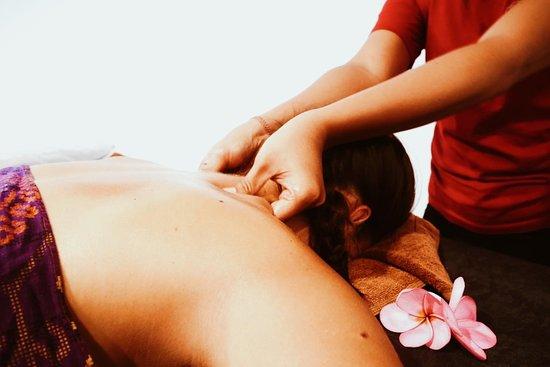Back and shoulders massage.