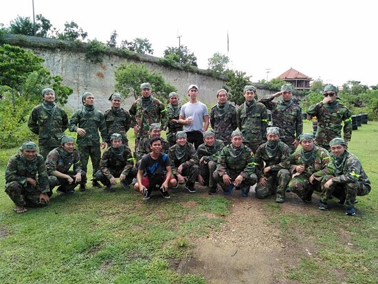 Jimbaran Hill Paintball by Bali Paintball Arena: Show your action.