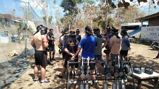 Jimbaran Hill Paintball by Bali Paintball Arena: Strategy first.