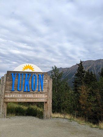 Stopping at the Yukon Territory border