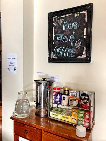 Free tea and coffee year round