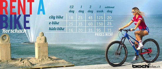 Rental bikes.  +41 71 534 16 80