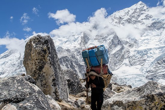 Fooding and logistic transfer to the base camp.