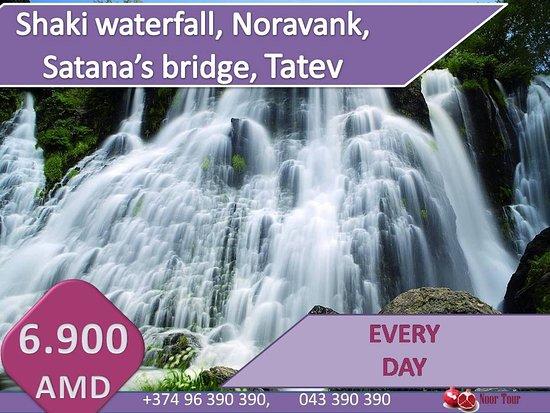 Armenia: #Tatev#Shaki waterfall#Noravank#Satana's bridge