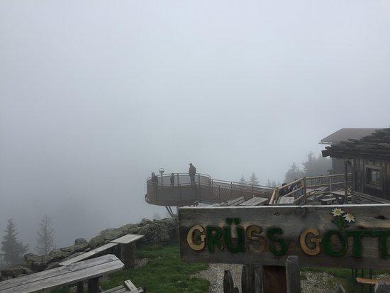 Mayrhofen Ahornbahn: In de wolken