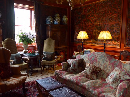 One of the sitting rooms.