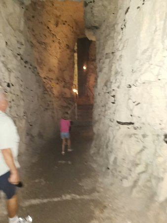 Walking through the caves
