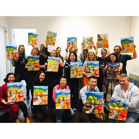 Sip and paint events at Ladder Art Space
