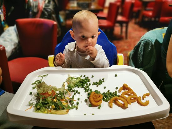 Everyone enjoys the food